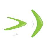 Green color boomerang. Vector illustration Royalty Free Stock Image