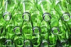 Green color bottles Stock Image