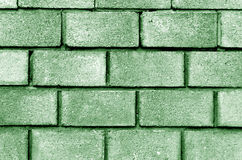 Green color brick wall pattern. Royalty Free Stock Image