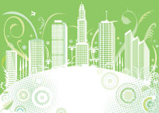 Green color city Royalty Free Stock Photography