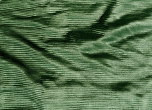 Green color cloth texture. Royalty Free Stock Image