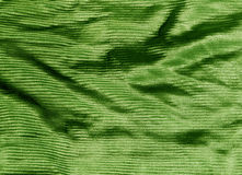 Green color cloth texture. Royalty Free Stock Photos