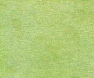 Green color cotton cloth pattern. Stock Image