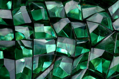 Green color crystal. In the gardens Royalty Free Stock Photography