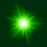 Green color design with a burst. EPS 8 Stock Photography