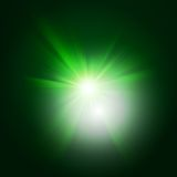 Green color design with a burst. EPS 10 Royalty Free Stock Photo