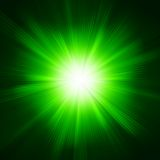 Green color design with a burst. EPS 10 Stock Photography