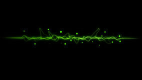 Green  color dynamic lines modern abstract Stock Image