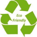Green Eco friendly recycle symbol Icon. Green color Eco friendly symbol  can use for buttons and web graphics Stock Photos