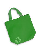 Green color fabric bag Stock Photos
