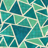 Green color fabric seamless pattern with grunge effect Stock Image