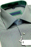 Green color formal shirt Stock Photography