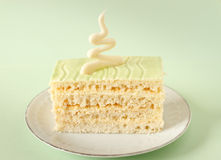 Green color frosting cake Royalty Free Stock Image