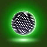Green color gamma sphere with lighting dots Royalty Free Stock Images