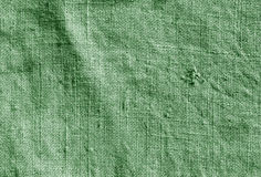Green color hessian sack cloth pattern. Royalty Free Stock Image