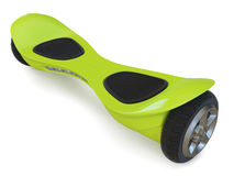 Green color hoverboard  on white Stock Image