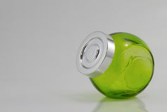 Green Color jars. Green Stock Images