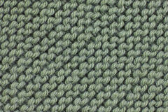 Green color knitting texture Royalty Free Stock Images