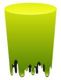Green color melting down Stock Photos