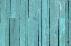 Green color paint plank wall Stock Photos