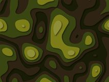 Green color paper layers 3D papercut with gradient. Texture Stock Illustration