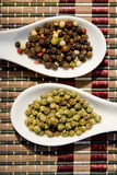 Green and color pepper Stock Photo