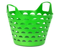 Green color plastic basket Stock Photography