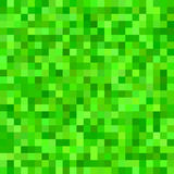 Green color square mosaic vector background Royalty Free Stock Image