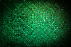Green color of stained glass Stock Images