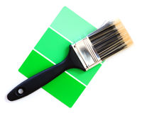 Green color swatch Stock Photography
