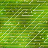 Green color technology seamless pattern Stock Image