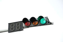 Green color traffic light Royalty Free Stock Images