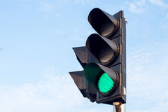 Green color on the traffic light Royalty Free Stock Photo