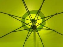Green color on umbrella Royalty Free Stock Photos