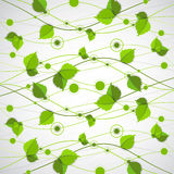 Green color wave with leaves. Stock Images