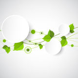 Green color wave with leaves. Royalty Free Stock Photography