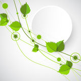 Green color wave with leaves. Stock Photography