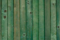 Green wood background. Green color wood structure surface background exterior Royalty Free Stock Photography