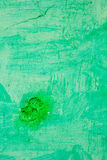 Green colored concrete wall texture as dirty background. Stock Photography