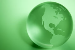 Green Colored Globe Royalty Free Stock Photography