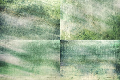 Green colored grunge texture backgrounds Stock Photos