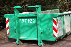 Green colored heavy dumper Stock Photo