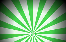 Green colored rays Stock Images