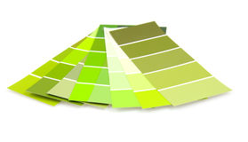 Green colored samples for painting Royalty Free Stock Photography