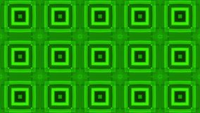 Green colorful abstract squares for music video. Animated Computer Design stock video