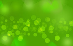 Green_colorful blurry bubbles_ background. Green  background with glowing bubbles Stock Photography