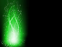 Green Colorful Glowing Lines Stock Photography
