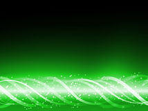 Green Colorful Glowing Lines stock illustration