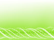 Green Colorful Glowing Lines Royalty Free Stock Photography