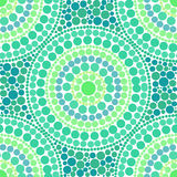 Green colors dotted circles seamless pattern Stock Photography